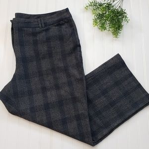 Lane Bryant Dark Gray Blue Plaid Dress Pants sz 26